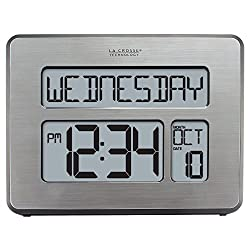 La Crosse Technology C86279 Atomic Full Calendar Clock with Extra Large Digits - Perfect Gift for The Elderly