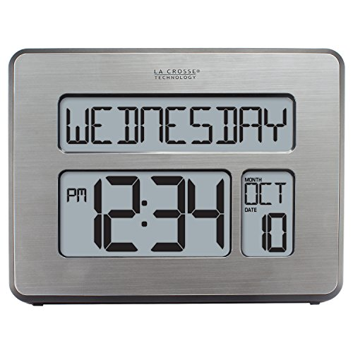 La Crosse Technology C86279 Atomic Full Calendar Clock with Extra Large Digits for The Elderly