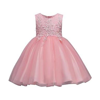 adcd952e9729 Amazon.com  KONFA Teen Toddler Girls Bridesmaid Floral Dress Gown ...