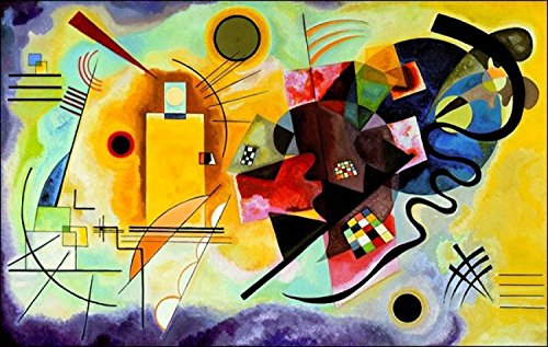 Posters: Wassily Kandinsky Poster Art Print - Yellow Red Blue