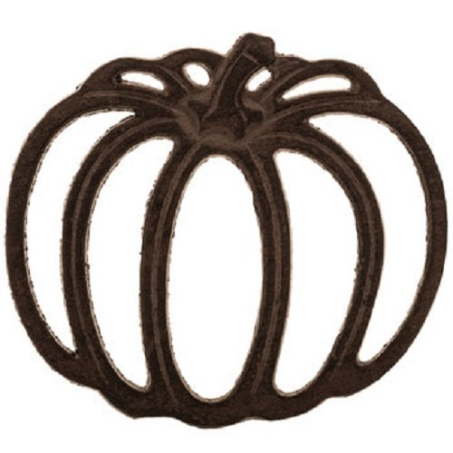 Rustic Cast Iron Metal Kitchen Pumpkin Trivet or Home Wall Decor