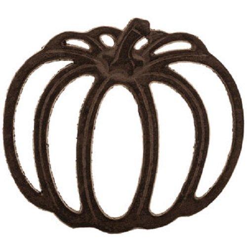 Rustic Cast Iron Metal Kitchen Pumpkin Trivet or Home Wall (Cast Iron Pumpkin)