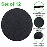 12 Sets Round Kitchen-Compost-Bin Pail Charcoal-Filters Replacement (6.7 inch) Activated Charcoal Carbon Filter for Trashbins Compost Filters