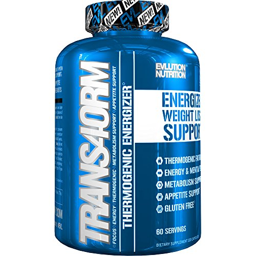 Evlution Nutrition Trans4orm Thermogenic Energizing Fat Burner Supplement, Increase Weight Loss, Energy and Intense Focus (60 Servings) (Alpha Energizing Formula)