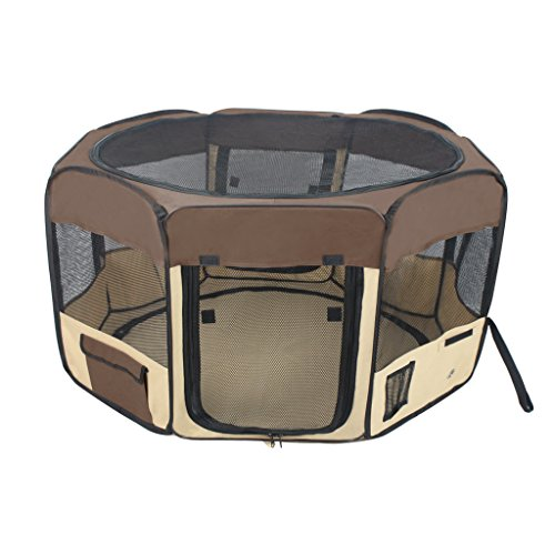 Jespet-45-61-Foldable-Portable-DogCatRabbitPuppy-Pet-Playpen-Exercise-Pen-Kennel-600D-Oxford-Cloth-with-Carry-Bag