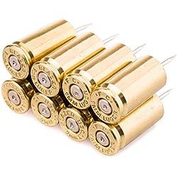 War Monkey 9mm Bullet Casing Polished Push Pins in Brass - Set of 8