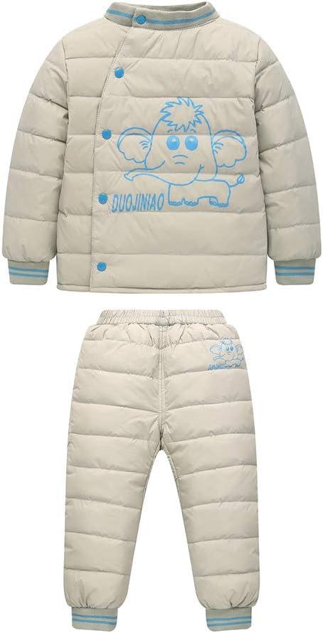 Unisex Tuta da Sci per Bambino Piumino Bambino Invernale Giacca Bambina Snowsuit 2 Pezzi BOZEVON Bambino Piumino