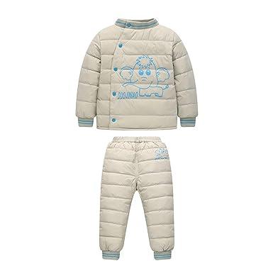 63dda252a3e47 XFentech Enfant Neige Vêtements - Épais Bébé Doudoune Fille Manteau Habit de  Neige Combinaison Snowsuit,