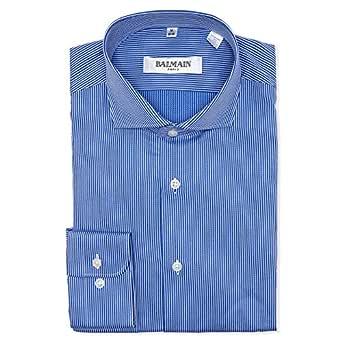 Balmain Dark Blue Shirt Neck Shirts For Men