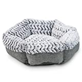 Pet Craft Supply Co. Round Machine Washable Memory Foam Comfortable Ultra Soft All Season Self Warming Cat & Dog Bed, Grey