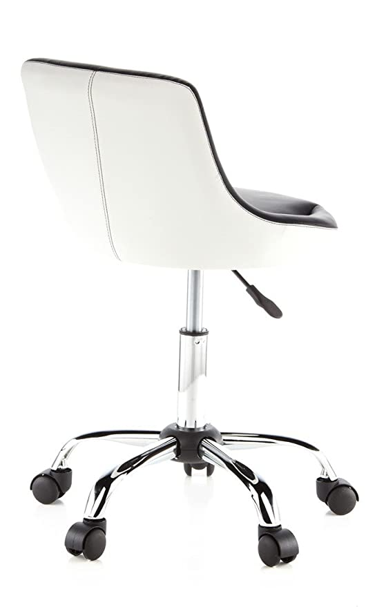 hjh OFFICE Steady Silla giratoria, Negro/Blanco, 58 x 28 x 48 cm: Amazon.es: Hogar