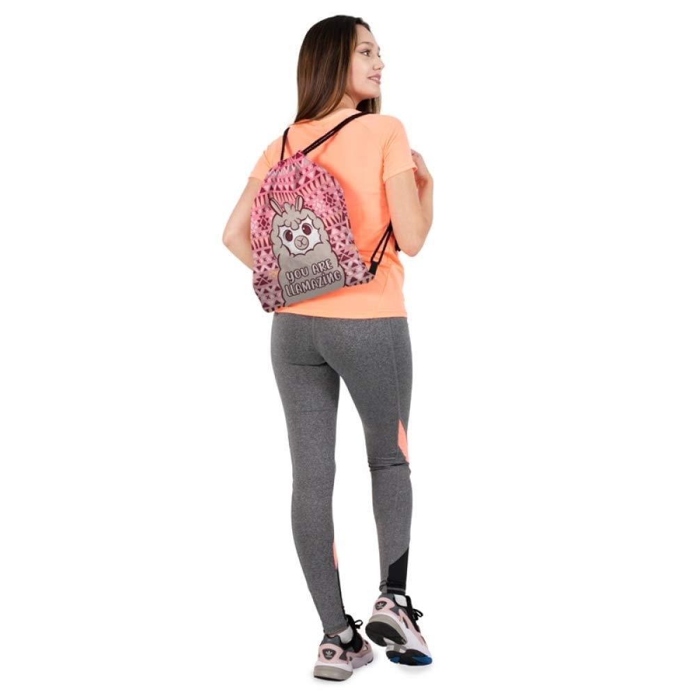 Amazon.com | Crayon Shine - Women Drawstring Backpack Alpaca ...