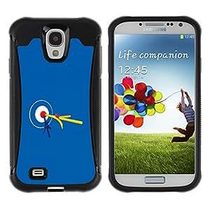 Be-Star único patrón Impacto Shock - Absorción y Anti-Arañazos Funda Carcasa Case Bumper Para SAMSUNG Galaxy S4 IV / i9500 / i9515 / i9505G / SGH-i337 ( Bullseye Bulls Eye Match Target )