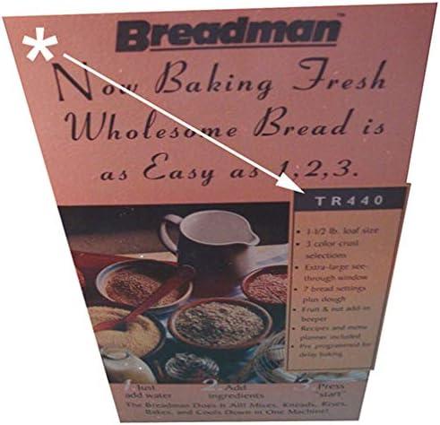 Amazon.com: breadman TR440 Pan máquina Replacement Paddle ...
