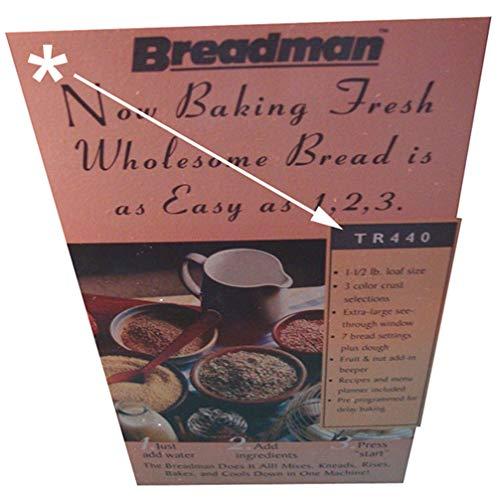 Breadman TR-440 Bread Machine Paddle by Breadman (Image #4)