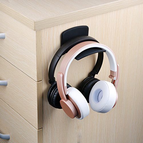 - Neetto Headphone Hanger Holder Wall, Headset Hook Under Desk, Universal Stand for Sennheiser, Sony, Bose, Beats, AKG, Audio-Technica, Gaming Controller, Cables, Gamepad - HS907.