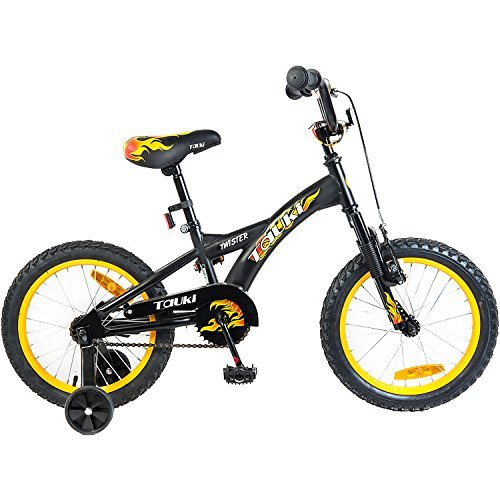 Tauki 16 Inch Kid Bike BMX Freestyle for Boys and Girls, Black, 95% assembled, for 4-8 Years Old Best Deal