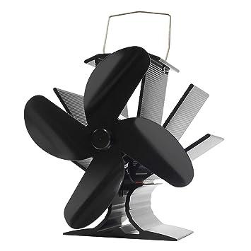 Signstek Kaminventilator 4 Lufter Blade Warmebetriebene Lufter