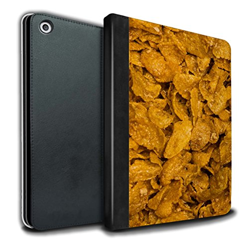 Crunchy Collection (STUFF4 PU Leather Book/Cover Case for Apple iPad 9.7 (2017) tablets / Crunchy Nut Design / Breakfast Cereal Collection)