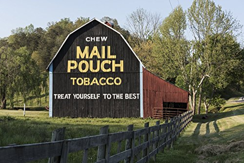 Jackson County, WV - Photo - Freshly painted Mail Pouch Tobacco sign on a barn- Highsmith by Historic Pictoric