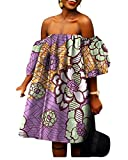 Women Big Pendulum African Print Shoulder Off Batik Sexy Gowns 6 4XL