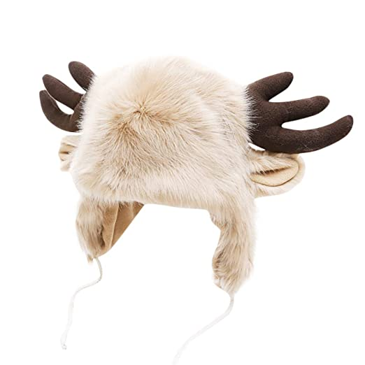 321310ade Amazon.com: 2019 Fashion Women Faux Fur Elk Plush Hat,Women Lady ...