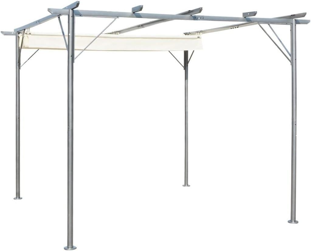 Daonanba - Pérgola para Coche (3 x 3 m, retráctil), Color Blanco ...