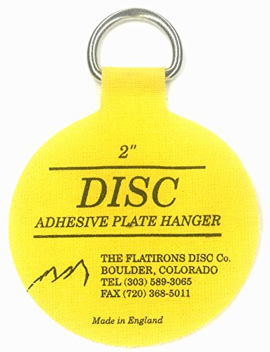 Flatirons Disc Adhesive Plate Hanger Set (6-2 Inch Hangers) by The Flatirons Disc Co (Image #1)