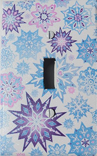 Amazoncom Single Toggle Multicolored Snowflake Light Switch Plate