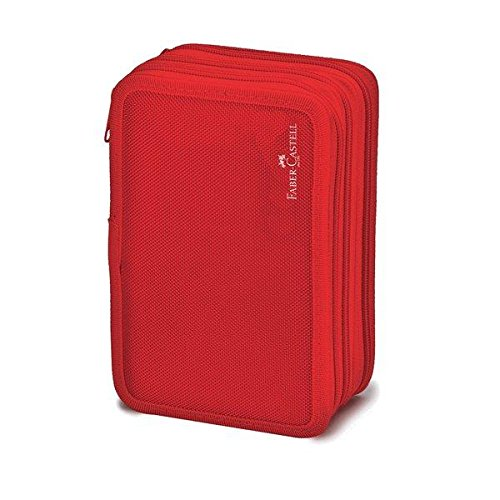 Faber-Castell 570021 estuche, rojo: Amazon.es: Oficina y ...