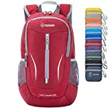 ZOMAKE Ultra Lightweight Packable Backpack, 25L Small Water Resistant Hiking Daypack Foldable Travel Backpack for Men Women Outdoor(Red)