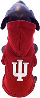product image for All Star Dogs NCAA Indiana Hoosiers Cotton Hooded Dog Sweatshirt