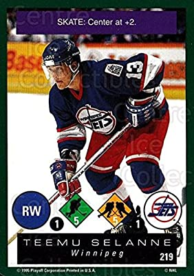 (CI) Teemu Selanne Hockey Card 1995-96 Playoff One on One (base) 219 Teemu Selanne