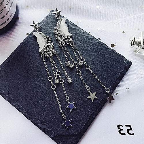 Dokis Boho Long Tassel Butterfly Lace Geometry Drop Dangle Stud Earrings Woman Jewelry | Model ERRNGS - 3293 | (Checkered Pyramid Stud)