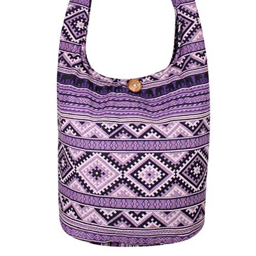Elephant Messenger Bag Bags Purses Square Bohemian Bags bags Hippie Crossbody Hobo Shoulder Purple Hippie rwqrBUXfxn