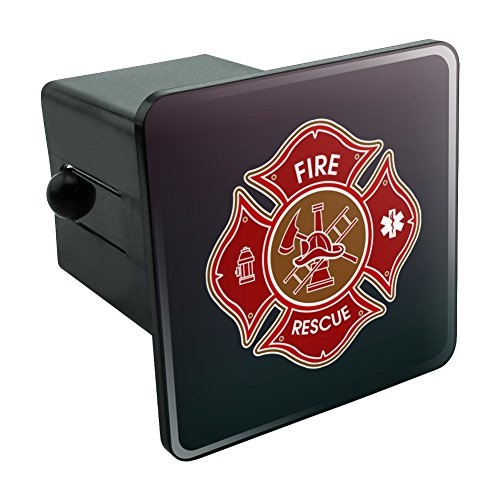 Firefighter Fire Rescue Maltese Cross Tow Trailer Hitch Cover Plug Insert 2
