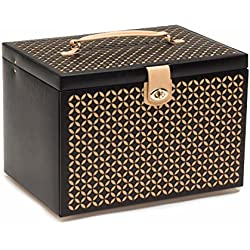 WOLF 301602 Chloe Extra Large Jewelry Box, Black
