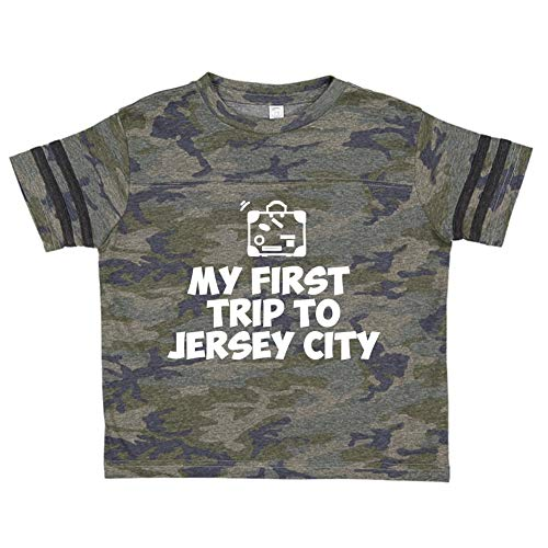 Mashed Clothing My First Trip to Jersey City - Toddler/Kids Sporty T-Shirt (Smoke/Camo Youth XS (2-4))