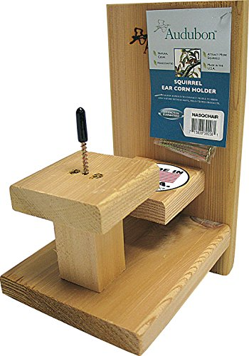 Woodlink NASQCHAIR Audubon Squirrel Single Ear Corn Holder - Squirrel Ear Corn Holder