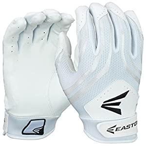 Easton Hyperskin HF3 Fastpitch Batting Gloves, White/White, Medium