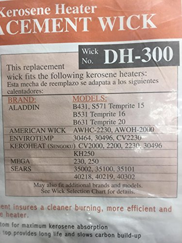 - DuraHeat Kerosene Heater Replacement Wicks DH-300R iTEM #34410 Model # DH300 UPC# 013204003005