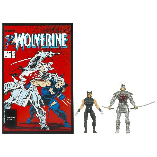 Marvel Universe Wolverine and Silver Samurai Figure Comic Pack 4 (Silver Samurai Marvel)