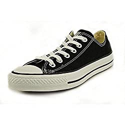 Converse Mens Chuck All Star Black Low Sneaker - Blackwhite Mens 8, Womens 10