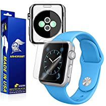 ArmorSuit MilitaryShield - Apple Watch 38mm Screen Protector [Full Screen Coverage] + Full Body Skin Protector / Front + Back Anti-Bubble Ultra HD & Touch Responsive Shield with Lifetime Replacements