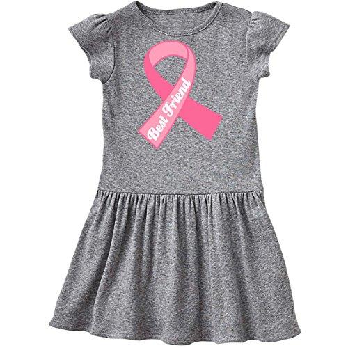 inktastic - Best Friend Pink Ribbon Infant Dress 18 Months Heather Grey ddbd