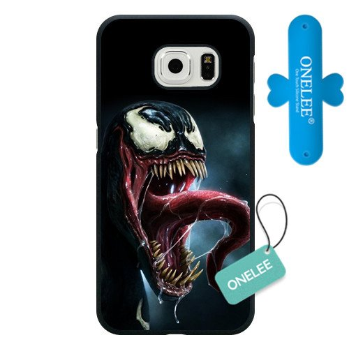 Samsung Galaxy S6 Case, Onelee Customized Marvel Comics Spider Man Black Hard Plastic Case Only Fit For Samsung Galaxy S6