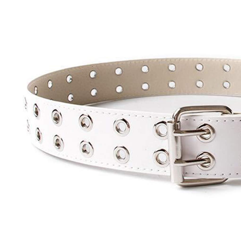 Beaums Cuoio Cinture unisex punk doppio perno fibbia casual Waits uomini della cinghia donne del cinturino regolabile
