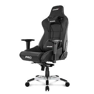 AKRacing AK BK Masters Series Pro Luxury XL Gaming Chair, Black