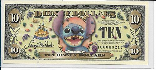 2005 $10 Disney Dollars Stitch Uncirculated