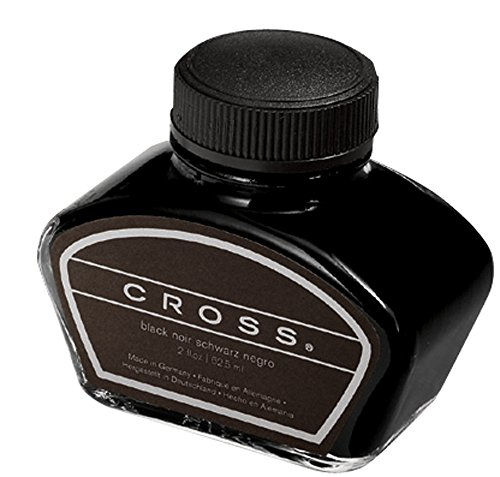 America Pen Knife - Cross Fountain Pen Bottled Ink, Black Single 2oz Bottle, (8905S)